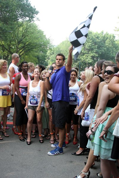 The Regis and Kelly Show Hosts 'High-Heel-A-Thon' for the March of Dimes Charity in Central Park
