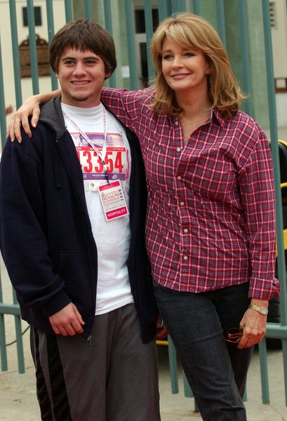 Deidre Hall (Deidra Hall) with Son at 15th Annual EIF Revlon Run/ Walk For Women - Los Angeles Memorial Colliseum, Los Angeles, CA. USA