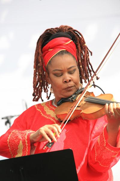 Karen Briggs at 18th Annual Jazz Show at Charles Drew University of Medicine and Science Campus, Los Angeles, CA, USA