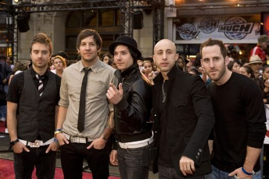 Simple Plan at The 19th Annual MuchMusic Video Awards at The Chum/City Building, Toronto Canada