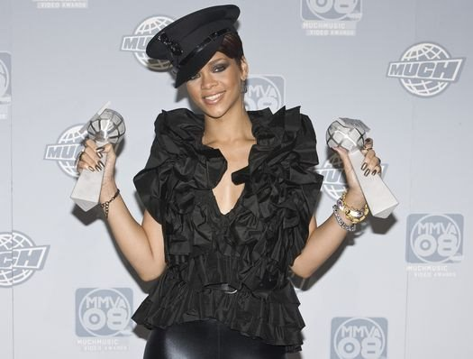 Rihanna at The 19th Annual MuchMusic Video Awards at The Chum/City Building, Toronto Canada