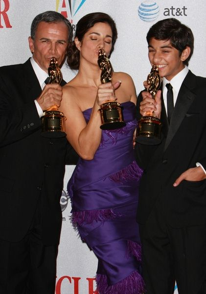 Tony Plana, Ana Ortiz, Mark Indelicato at 2008 ALMA Awards - Press Room at Pasadena Civic Center, Pasadena, CA, USA
