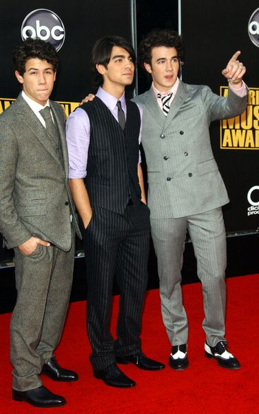 The Jonas Brothers at 2008 American Music Awards - Arrivals at Nokia Theater, Los Angeles, CA. USA