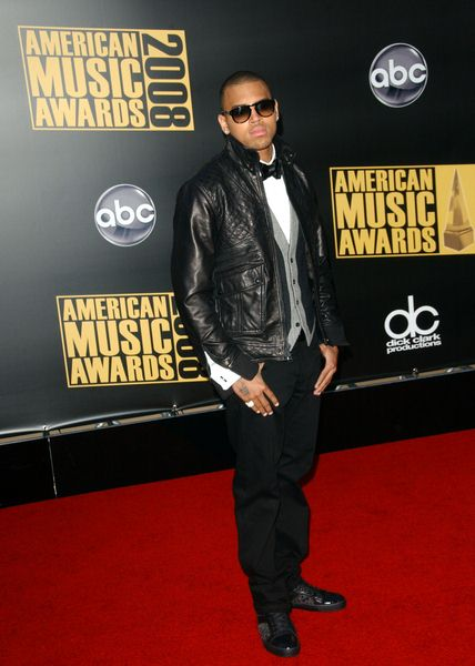 Chris Brown at 2008 American Music Awards - Arrivals at Nokia Theater, Los Angeles, CA. USA