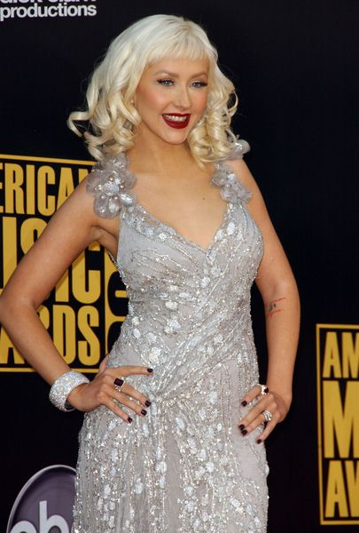 Christina Aguilera at 2008 American Music Awards - Arrivals at Nokia Theater, Los Angeles, CA. USA