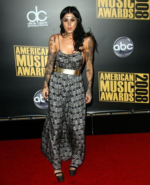 Kat Von D at 2008 American Music Awards - Arrivals at Nokia Theater, Los Angeles, CA. USA