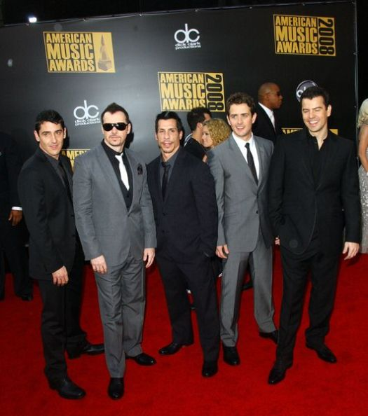 New Kids On The Block at 2008 American Music Awards - Arrivals at Nokia Theater, Los Angeles, CA. USA