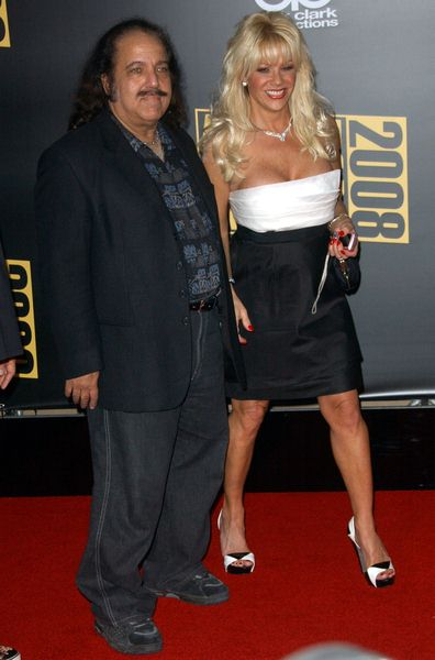 Ron Jeremy, Airforce Amy at 2008 American Music Awards - Arrivals at Nokia Theater, Los Angeles, CA. USA