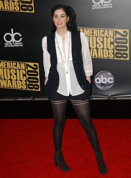 Sarah Silverman at 2008 American Music Awards - Arrivals at Nokia Theater, Los Angeles, CA. USA