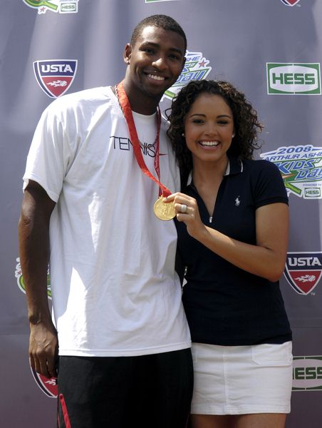 Cullen Jones, Susie Castillo at 2008 Arthur Ashe Kid's Day at USTA Billie Jean King National Tennis Center, New York City, NY, USA