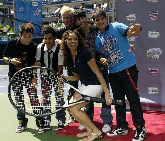 Menudo, Susie Castillo, Carlos Olivero, Emmanuel Velez Pagan, Jose Monti Montanez, Jose Bordonada Collazo at 2008 Arthur Ashe Kid's Day at USTA Billie Jean King National Tennis Center, New York City, NY, USA