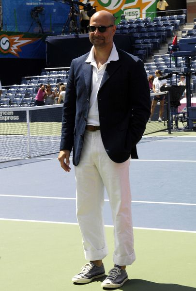 Stanley Tucci at 2008 Arthur Ashe Kid's Day at USTA Billie Jean King National Tennis Center, New York City, NY, USA