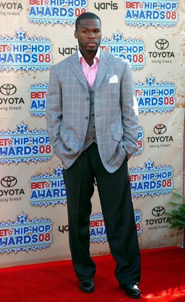 50 Cent (Curtis Jackson) at 2008 BET Hip Hop Awards - Arrivals at Atlanta Civic Center in Atlanta, GA, USA