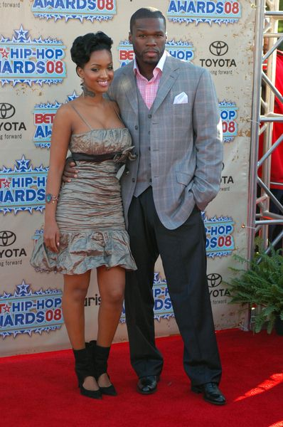 Angel Lola Luv, 50 Cent at 2008 BET Hip Hop Awards - Arrivals at Atlanta Civic Center in Atlanta, GA, USA