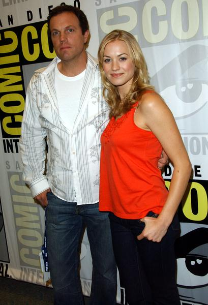 Adam Baldwin, Yvonne Strahovski at 2008 Comic Con International Day Three at San Diego Convention Center, San Diego, CA. USA