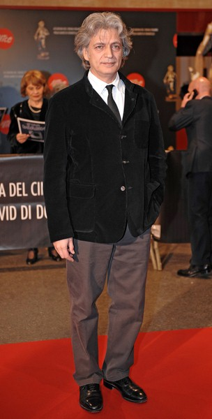 Fabrizio Bentivoglio at 2008 David Di Donatello Awards For Italian Cinema - Inside Arrivals and Ceremony - Auditorium della Conciliazione, Rome, Italy