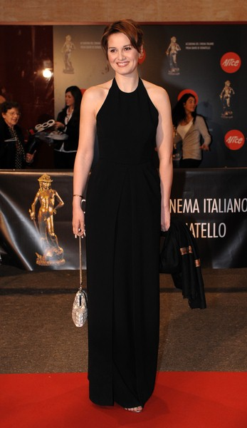 Paola Cortellesi at 2008 David Di Donatello Awards For Italian Cinema - Inside Arrivals and Ceremony - Auditorium della Conciliazione, Rome, Italy
