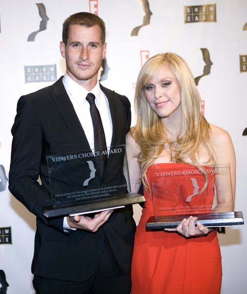 Brendan Fehr, Leah Miller at 2008 Gemini Awards Gala at Metro Toronto Convention Centre, Toronto, Canada