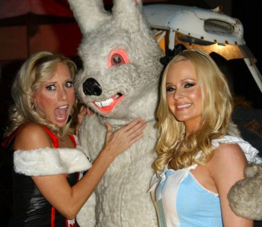 Melissa 'MOJO' Hunter, Katie Lohmann at 2008 Halloween Celebration at Private Location in Studio City, CA. USA