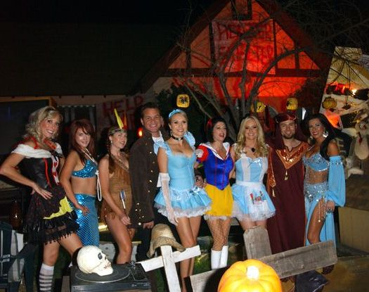 Melissa 'MOJO' Hunter, Kim Mulligan, Lisa Cash, David Maclachlan, Alana Curry, Jamie Carson, Katie Lohmann, Eric Ford, Jennifer Dicelli at 2008 Halloween Celebration at Private Location in Studio City, CA. USA