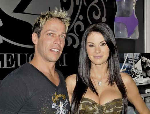 Guy Boucher, Jayde Nicole at 2008 MAGIC Fashion and Apparel Tradeshow in Las Vegas Hilton, Las Vegas, NV, USA