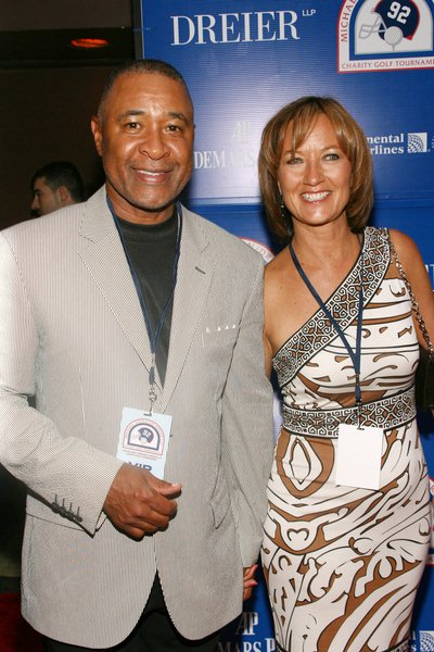 Ozzie Smith, Debbie Denner at 2008 Michael Strahan and Dreier LLP Charity Golf Tournament Pairing Party - Arrivals at Tao 42 East 58th Street, New York City, NY, USA