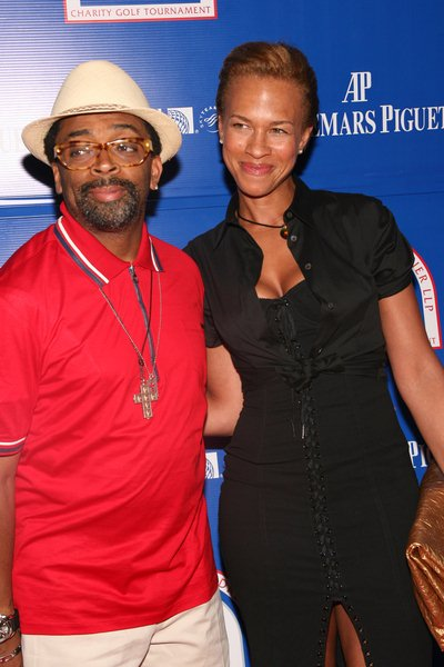 Spike Lee, Tanya Lee at 2008 Michael Strahan and Dreier LLP Charity Golf Tournament Pairing Party - Arrivals at Tao 42 East 58th Street, New York City, NY, USA