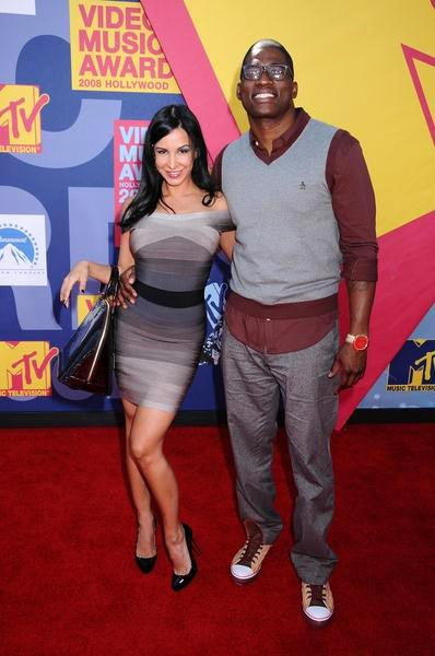 Mayra Veronica, David Banner at 2008 MTV Video Music Awards - Arrivals at Paramount Pictures Studios, Los Angeles, CA USA