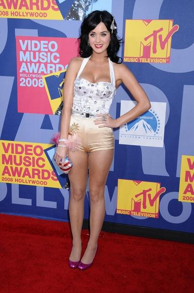 Katy Perry at 2008 MTV Video Music Awards - Arrivals at Paramount Pictures Studios, Los Angeles, CA USA
