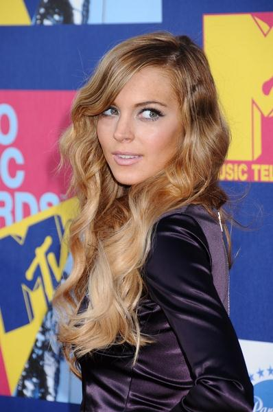 Lindsay Lohan at 2008 MTV Video Music Awards - Arrivals at Paramount Pictures Studios, Los Angeles, CA USA