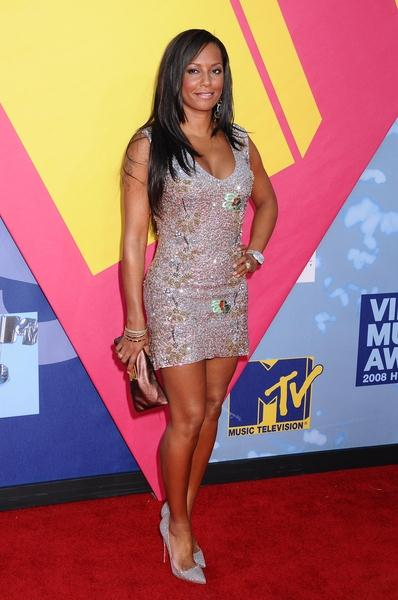 Melanie Brown (Spice Girls) at 2008 MTV Video Music Awards - Arrivals at Paramount Pictures Studios, Los Angeles, CA USA