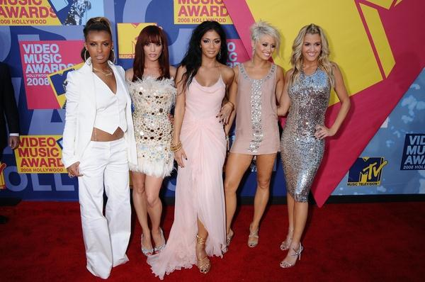 Pussycat Dolls (Nicole Scherzinger, Melody Thornton, Jessica Sutta, Ashley Roberts, Kimberly Wyatt) at 2008 MTV Video Music Awards - Arrivals at Paramount Pictures Studios, Los Angeles, CA USA