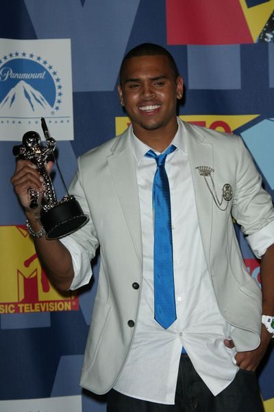 Chris Brown at 2008 MTV Video Music Awards - Press Room at Paramount Pictures Studios, Los Angeles, CA USA