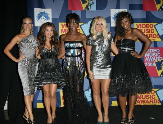 Danity Kane (Aubrey O'Day, Wanita Woodgette, Shannon Bex, Dawn Richard, Aundrea Fimbres) at 2008 MTV Video Music Awards - Press Room at Paramount Pictures Studios, Los Angeles, CA USA