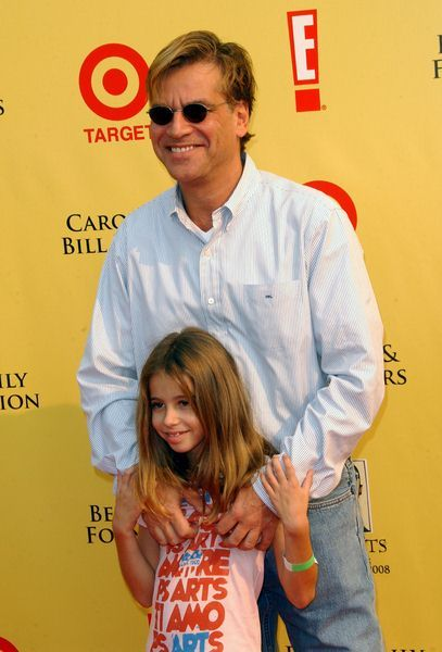Aaron Sorkin with daughter at 2008 P.S. ARTS' Express Yourself Event Sponsored by Target at Barker Hanger, Santa Monica, CA. USA
