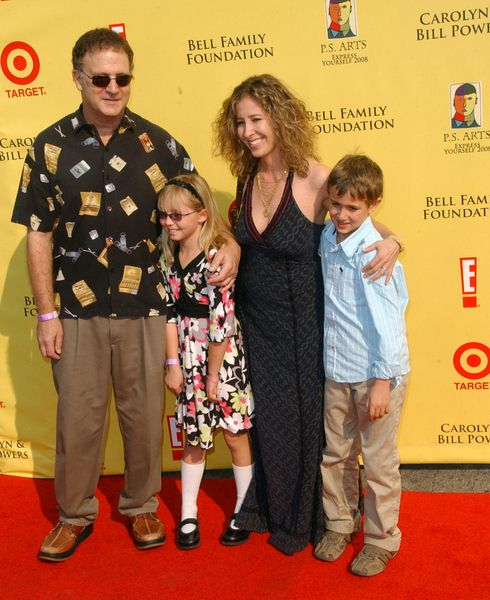 Albert Brooks, wife Kimberly, son Jacob and daughter Claire at 2008 P.S. ARTS' Express Yourself Event Sponsored by Target at Barker Hanger, Santa Monica, CA. USA
