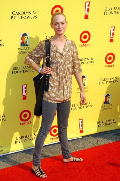 Amber Valetta at 2008 P.S. ARTS' Express Yourself Event Sponsored by Target at Barker Hanger, Santa Monica, CA. USA