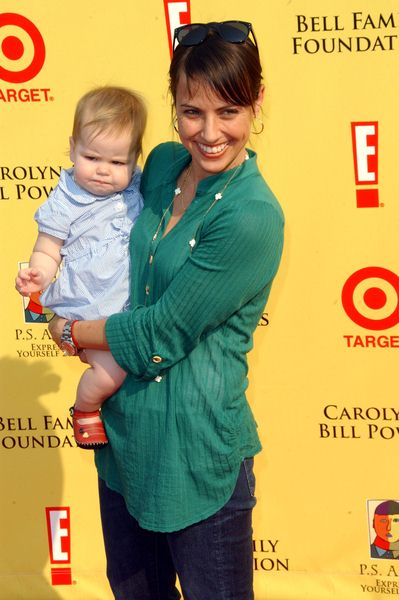 Constance Zimmer with daughter Colette at 2008 P.S. ARTS' Express Yourself Event Sponsored by Target at Barker Hanger, Santa Monica, CA. USA