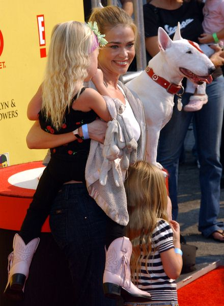 Denise Richards with daughters Sam and Lola at 2008 P.S. ARTS' Express Yourself Event Sponsored by Target at Barker Hanger, Santa Monica, CA. USA