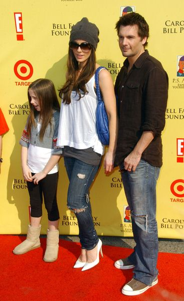Kate Beckinsale and Len Wiseman with daughter Lily at 2008 P.S. ARTS' Express Yourself Event Sponsored by Target at Barker Hanger, Santa Monica, CA. USA