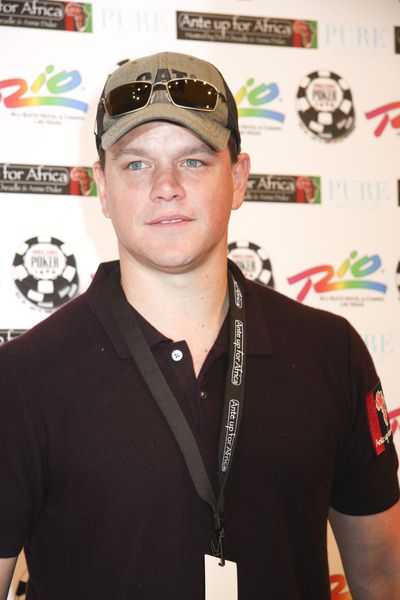 Matt Damon at 2nd Annual 'Ante Up For Africa' Celebrity Poker Tournament at the 2008 World Series of Poker - Rio Hotel and Casino, Las Vegas, NV, USA