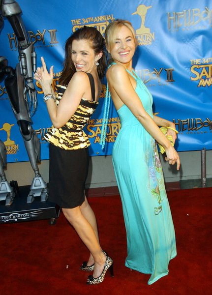 Alicia Arden, Paula LaBaredas at 34th Annual Saturn Awards at The Universal Hilton Hotel, Universal City, CA. USA