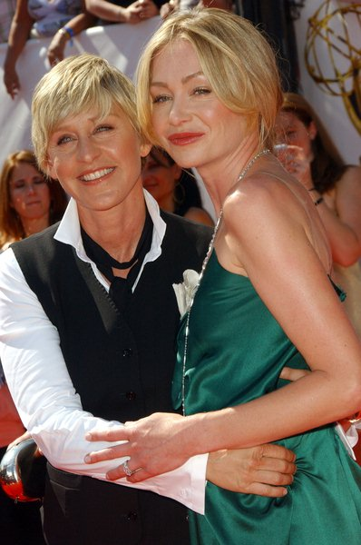 Ellen Degeneres, Portia de Rossi at 35th Annual Daytime EMMY Awards at Kodak Theater, Hollywood, CA. USA