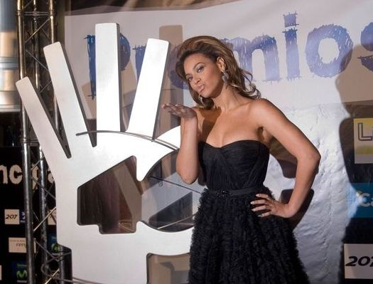 Beyonce Knowles at 40 Principales Awards 2008 - Arrivals and Show - The Sports Palace, Madrid, Spain