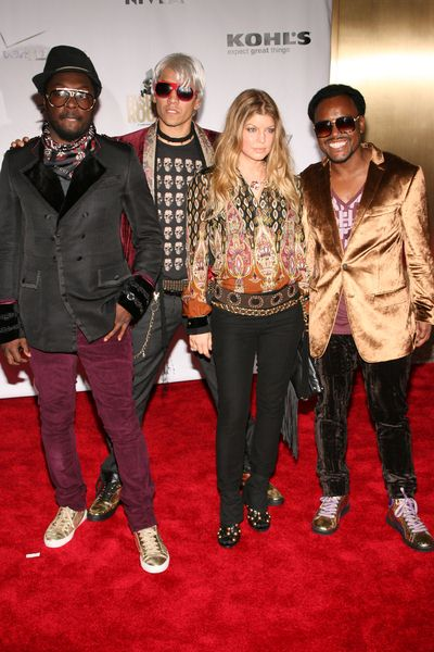Black Eyed Peas (will.i.am, apl.de.ap, Taboo, Fergie) at 5th Anniversary of Conde Nast Media Group's 'Fashion Rocks' at Radio City Music Hall, New York City, NY, USA
