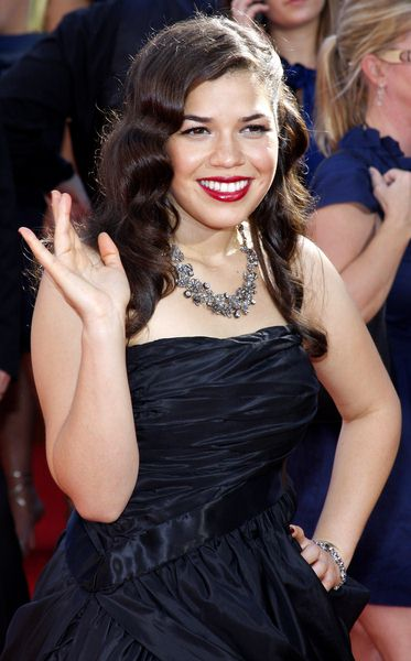 America Ferrera at 60th Primetime EMMY Awards - Arrivals at Nokia Theater in Los Angeles, CA. USA