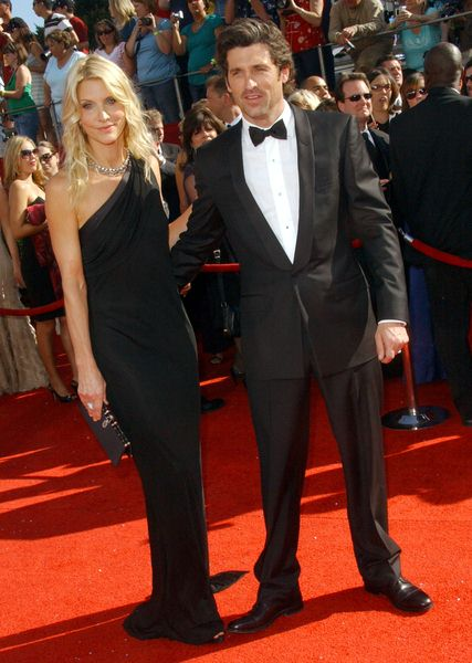 Patrick Dempsey, Wife at 60th Primetime EMMY Awards - Arrivals at Nokia Theater in Los Angeles, CA. USA