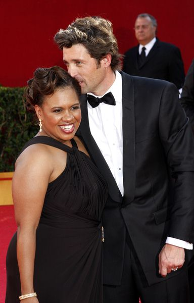 Patrick Dempsey, Chandra Wilson at 60th Primetime EMMY Awards - Arrivals at Nokia Theater in Los Angeles, CA. USA