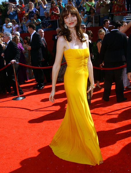 Saffron Burrows at 60th Primetime EMMY Awards - Arrivals at Nokia Theater in Los Angeles, CA. USA