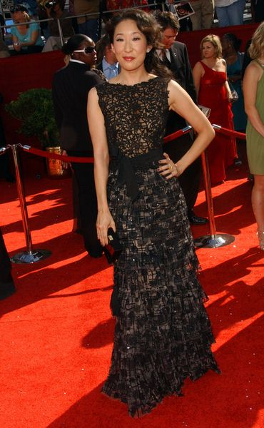 Sandra Oh at 60th Primetime EMMY Awards - Arrivals at Nokia Theater in Los Angeles, CA. USA